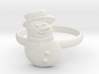 Snowman Ring 3d printed