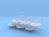 1/7000 Destroyer Akula - 06 ships pack 3d printed