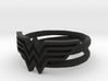 Wonder Woman Ring With Lasso Size 7 3d printed