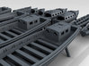 1/350 WW2 RN Boat Set 2 without Mounts 3d printed 3D Render displaying detail
