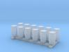 N Scale Blue Barrels 12pc 3d printed