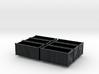 Steel Scrap bins (N scale) - set of 6 (suits HDA) 3d printed