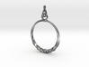 BlakOpal Twisting Hoop Earring 3d printed
