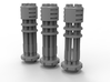 Tsunami Gatling Weapons - Set of 3 (Short Barrel) 3d printed