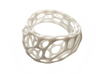 2-Layer Twist Ring 3d printed in White Strong and Flexible Polished