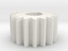Cylindrical gear Mn=1 Z=17 AP20° Beta0° b=10 HoleØ 3d printed