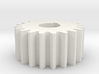 Cylindrical gear Mn=1 Z=20 AP20° Beta0° b=10 HoleØ 3d printed