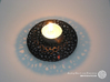 Tealight holder - Voronoi-Style #11 3d printed Own 3D-print with black PLA.