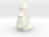 Moai Single Flower Vase - Porcelain 3d printed