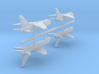 1/700 Vought F-8 Crusader (x4) 3d printed