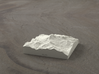 3'' Mt. Baker, Washington, USA, Sandstone 3d printed Radiance rendering of model data, viewed from the West
