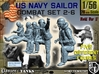 1-56 US Navy Sailors Combat SET 2-6 3d printed