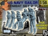 1-56 US Navy Sailors Combat SET 2-31 3d printed