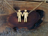 Man Loves Man Pendant - Love is Love Collection 3d printed