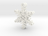 Flurry Snowflake Earrings 3d printed