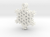Frost Snowflake Earrings 3d printed