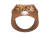 Copper Periodic Table Ring Size 8 Solid Ring Band 3d printed