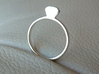 Diamond Ring (Size 7.25~7.75) 3d printed Premium Silver
