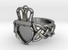Onyx Claddagh Ring Size 11.5 - NO GEM 3d printed