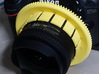 Nauticam Zoom Gear for Tokina AT-X 107 AF DX Fishe 3d printed mounted on lens