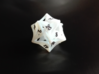 Curlicue 20-Sided Dice 3d printed