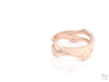 Full Dual Modern Ring 3d printed Rose Gold