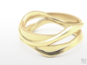 Full Dual Ring 3d printed Gold