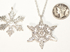 Snowflake Pendant - Style J 3d printed With other snowflake designs