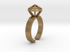 Gold Stereodiamond Ring 3d printed