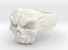Skull Ring 1 Part Aprox 21mm 3d printed