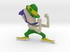 Fighting Irish No Shirt Muscles,  Small Figurine  3d printed