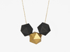 Bead 3d printed Single gold plated stainless bead + two nylon beads in black