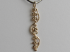 """""""IDIC"""" Stardust Pendant 3d printed Pictured: Polished bronze"""