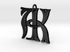 Monogram Initials AK Pendant  3d printed