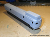 CNR D-1 Gas-Electric Car Body Shell (N Scale) 3d printed Test Print, painted with Tamiya Fine Grey Primer.