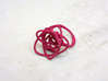 Sprouted Spiral Ring (Size 7) 3d printed Pink Strong and Flexible