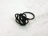 Sprouted Spiral Ring (Size 7) 3d printed Black Strong and Flexible