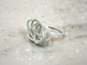 Sprouted Spiral Ring (Size 9) 3d printed White Strong and Flexible