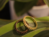 Granulated Ball Ring Size 8 3d printed Granulated Ball ring in polished bronze steel and polished brass