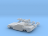 DeLorean Time Machine Train HO 1:87 3d printed