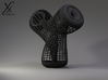 Triple Klein Bottle variation b. 3d printed Cycle render (black, strong and flexible).