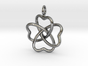 Heart Petals 4 Leaf Clover - 3.3cm - wLoopet 3d printed