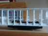 Volks / Southend Car 9 in 009 3d printed Side view as printed with roof - showing motor fit.
