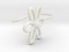 Flower Earring With Hook  3d printed