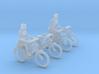 4 City-bikes (N 1:160) 3d printed