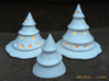 Large Holiday Tree Lumiere 3d printed Holiday Tree Family with Snow Skirts