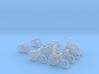 8 City-bikes (N 1:160) 3d printed