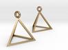 Tetrahedron Earrings 3d printed
