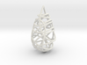Intertwined Drop Pendant 3d printed