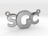 Custom Monogram Mendant - SCG 3d printed